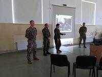 Tikšanās ar Latvijas, Amerikas un Kanādas karavīriem.